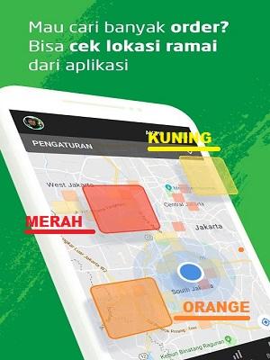 Kenali lokasi ramai, peta ramai orderan Gojek