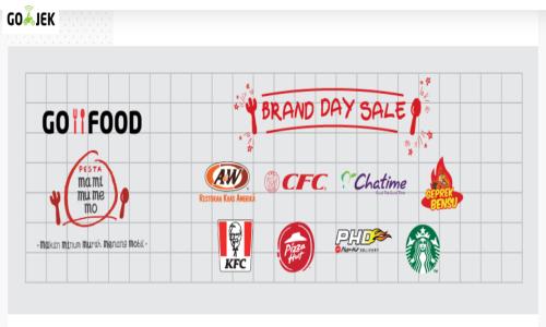 pesta promo diskon Gofood Brand Day Sale
