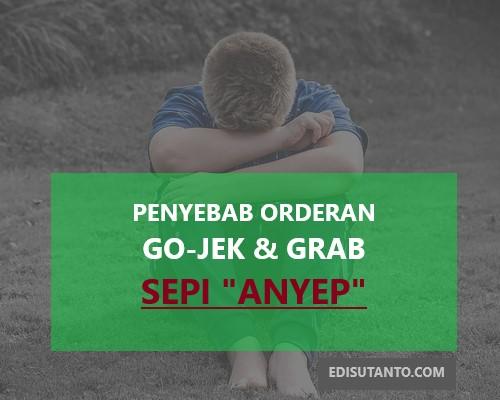penyebab orderan ojek online Gojek dan Grab sepi