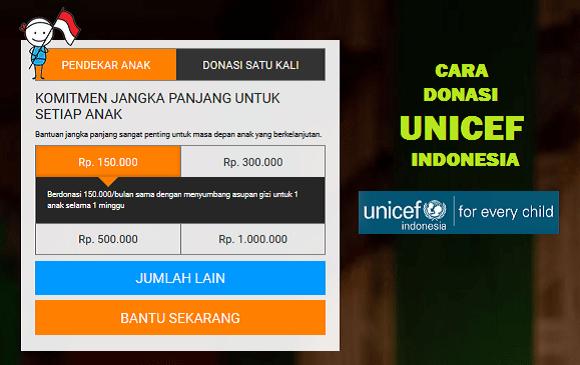 Cara Donasi UNICEF