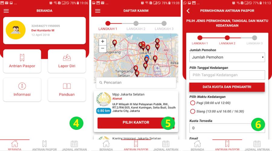 Membuat Paspor Online di Aplikasi