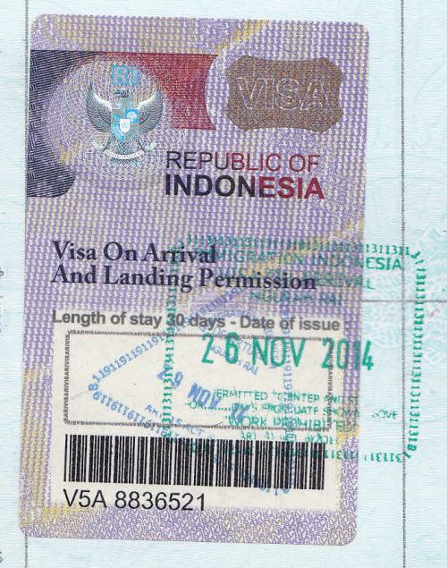 Jenis Visa On Arrival