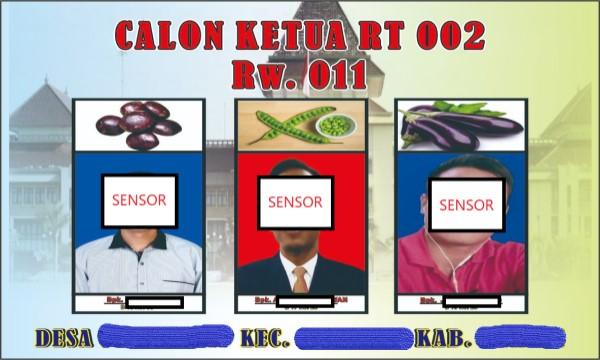 Contoh surat suara pemilihan ketua RT dan RW